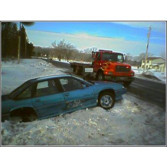 Big Lake MN car in Ditch recovery
