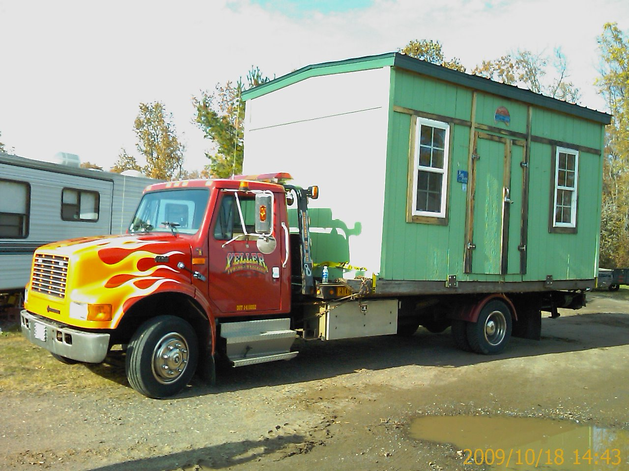 Yeller Towing Ice House removal and hauling