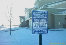 Private Property towing in Elk River, Zimmerman, Big Lake, Monticello, Princeton, MN